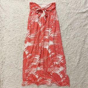 Old Navy Coral & White Tropical Maxi Size Small